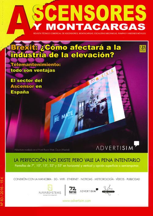 Rassegna stampa: Ascensores 83-2016